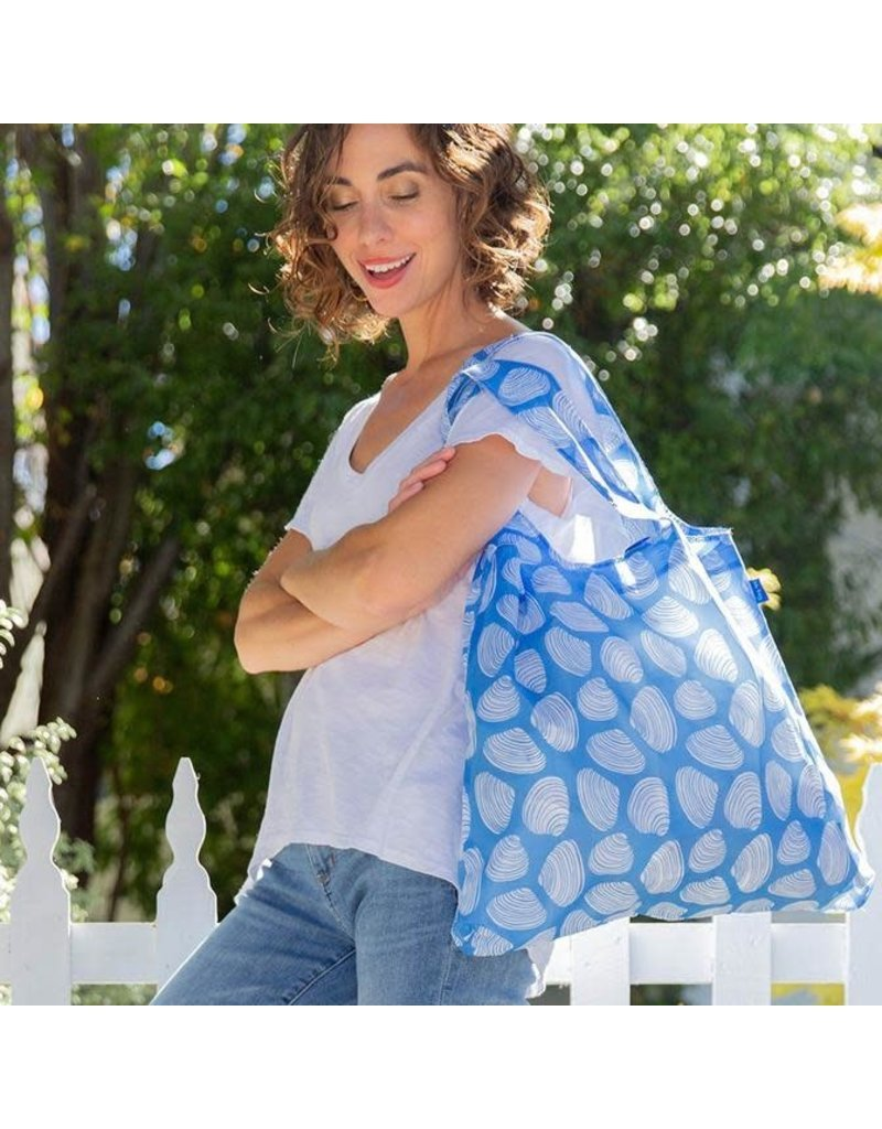 BluBag Reusable Shopping Bag - Clamshells Blue