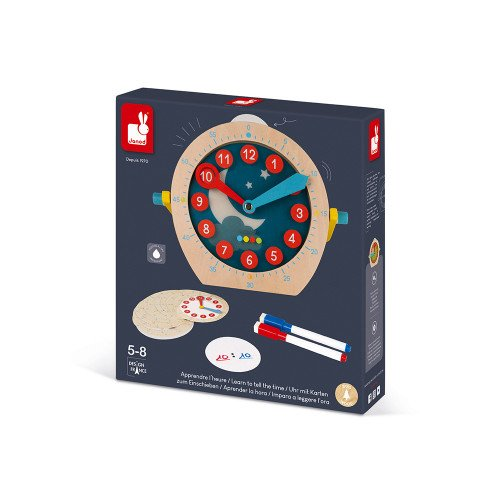 Janod Wooden Learning Clock