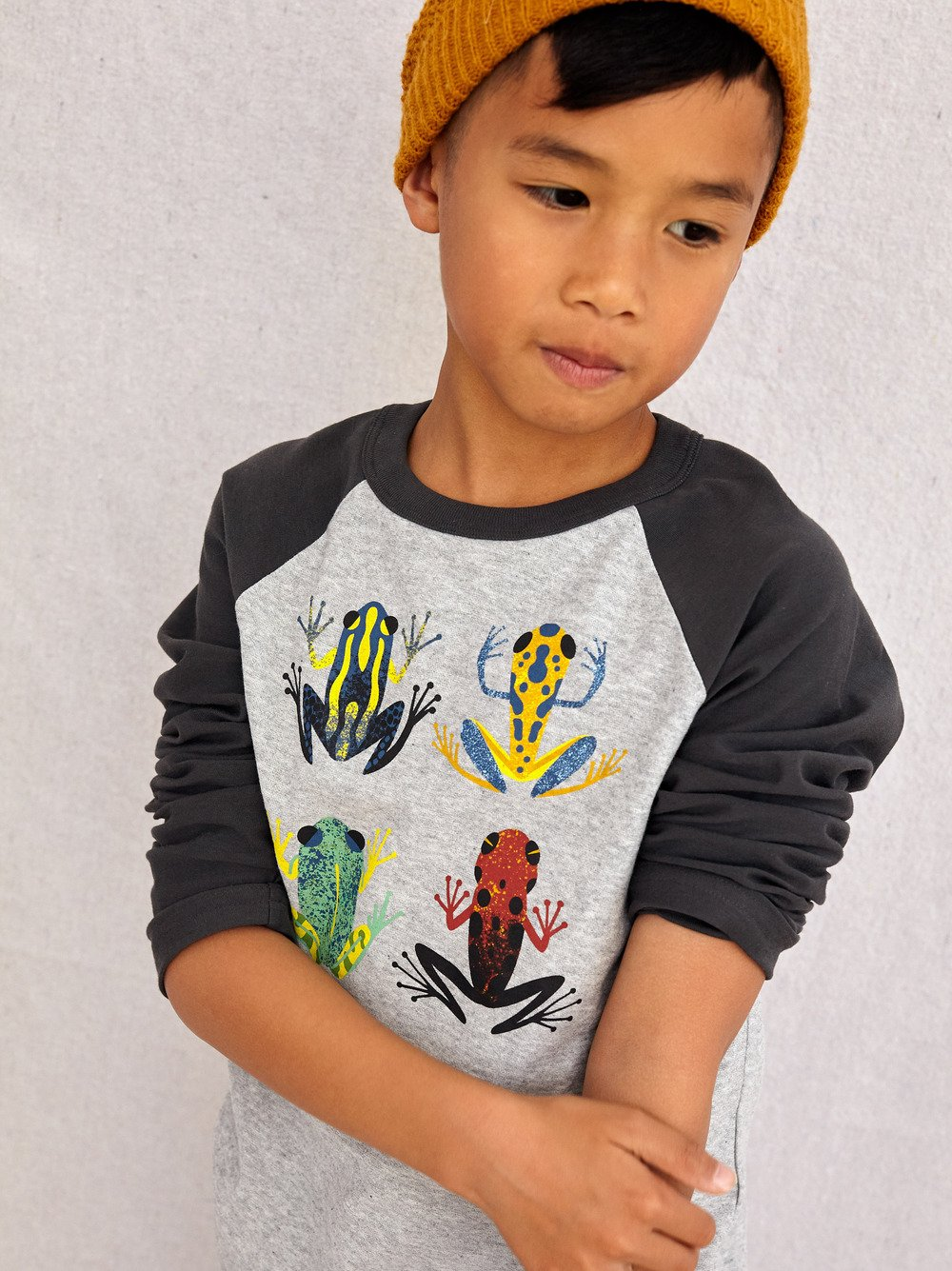 Cloud Forest Frog Raglan Sleeve by Tea Collection