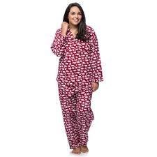 W's Flannel Sheep Pajama Set by La Cera