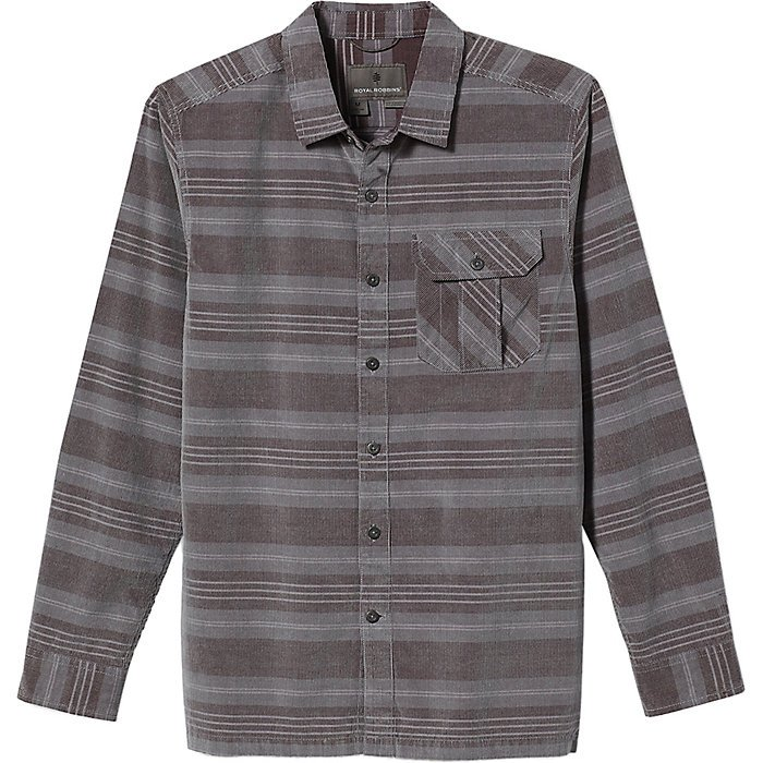 M's Covert Corduroy Organic Shirt in Light Pewter by Royal Robbins