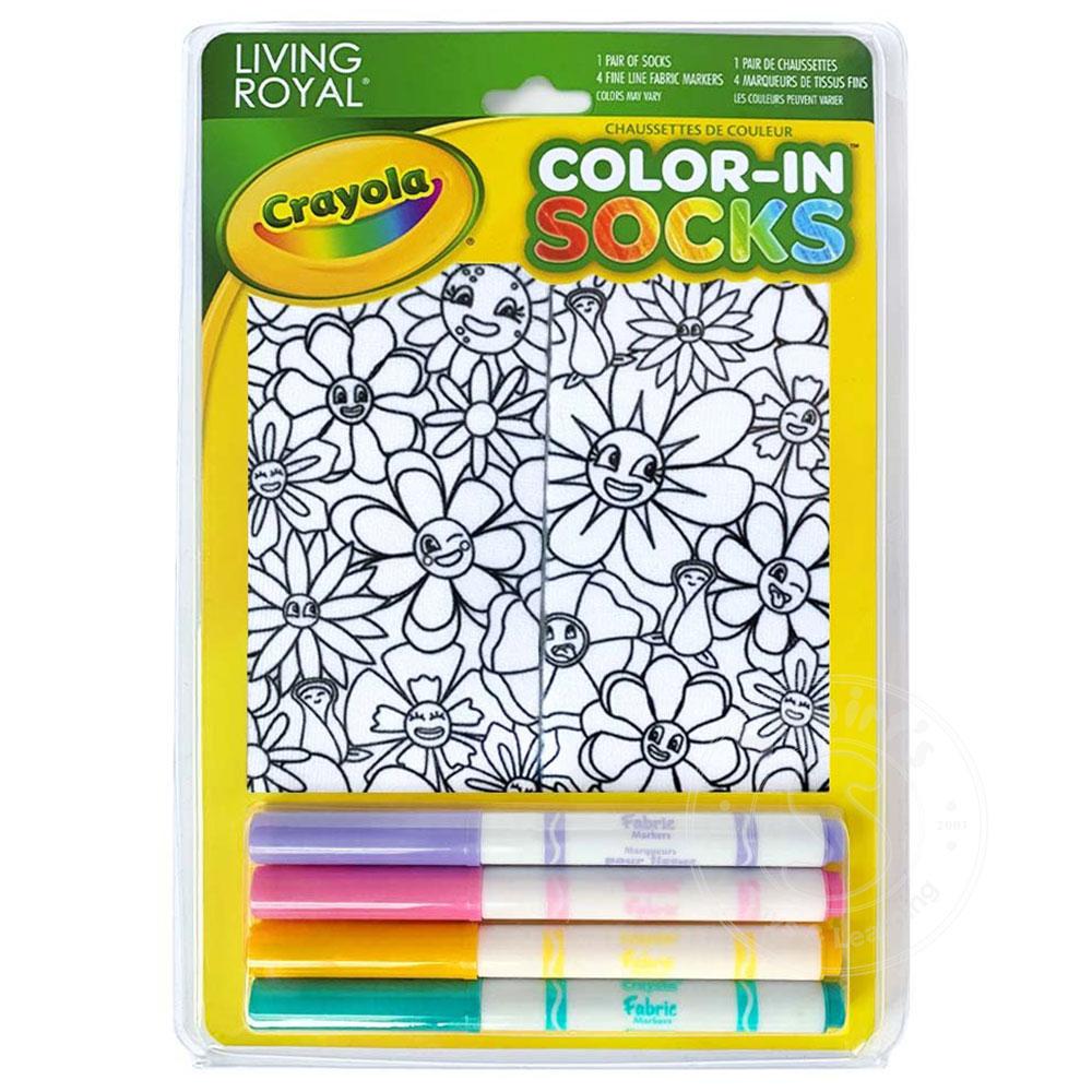 Crayola Color-In Socks - Flower Fun