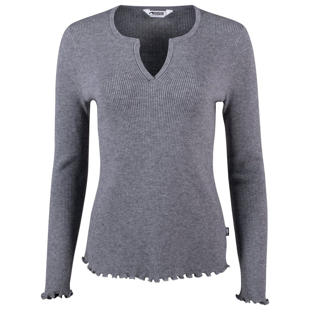 W's Crowne Henley Top in Grey by Mountain Khakis