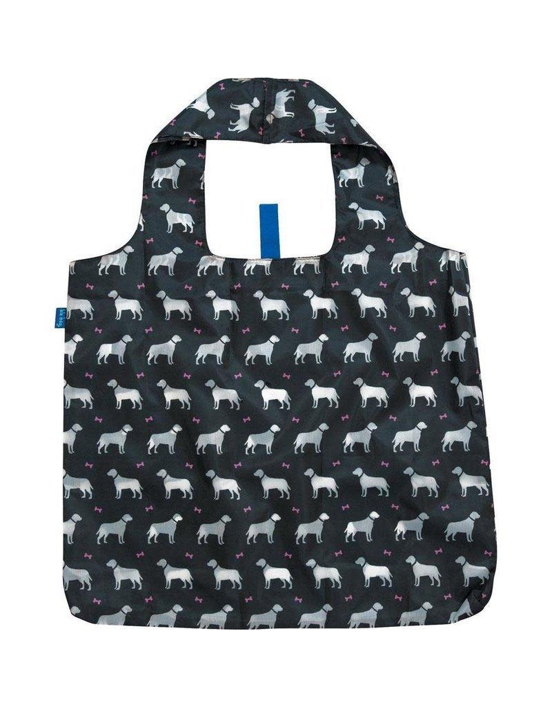 BluBag Reusable Shopping Bag - Dogs on Black