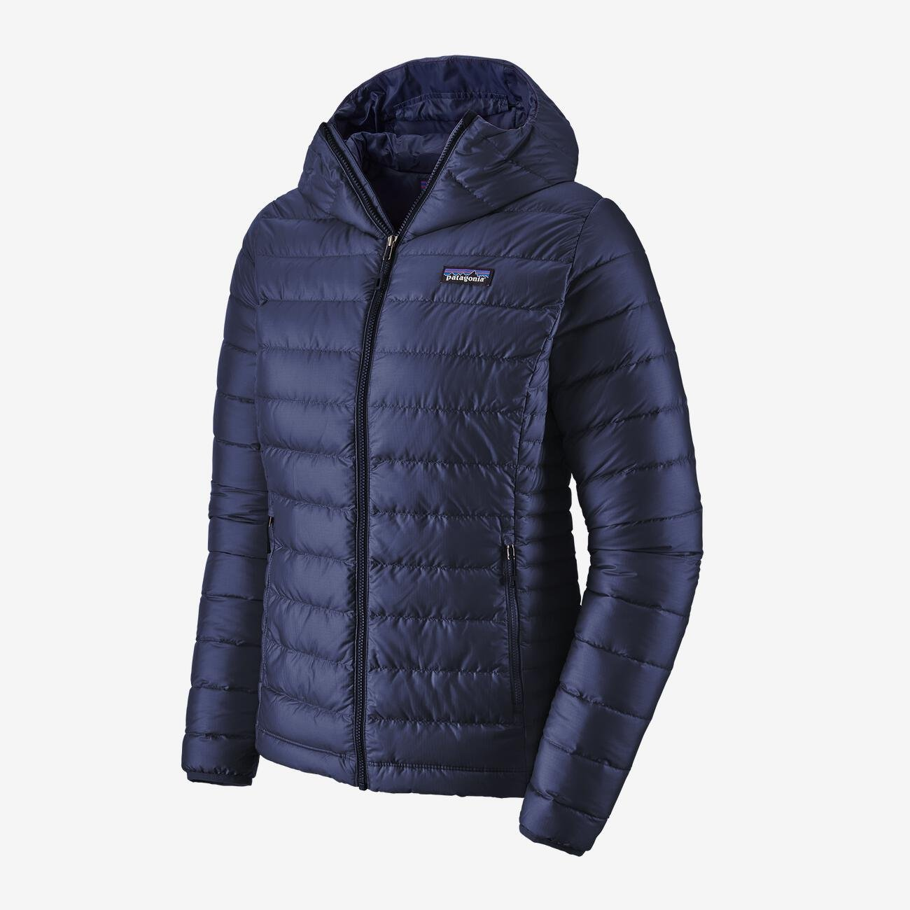 W's Patagonia Down Sweater Hoody in Classic Navy
