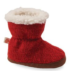 Kids Easy Bootie Ragg Slippers Red