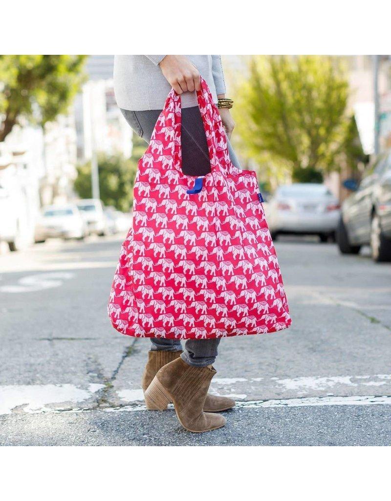 BluBag Reusable Shopping Bag - Elephant Magenta