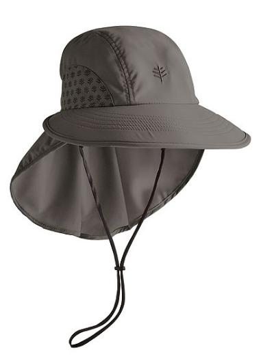 Coolibar UPF 50 Adult Explorer Hat Woodland Grey