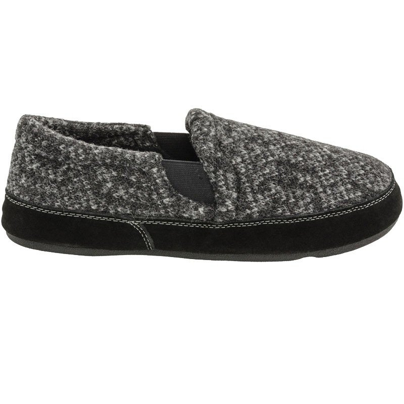 M's Acorn Fave Gore Slipper in Charcoal Tweed