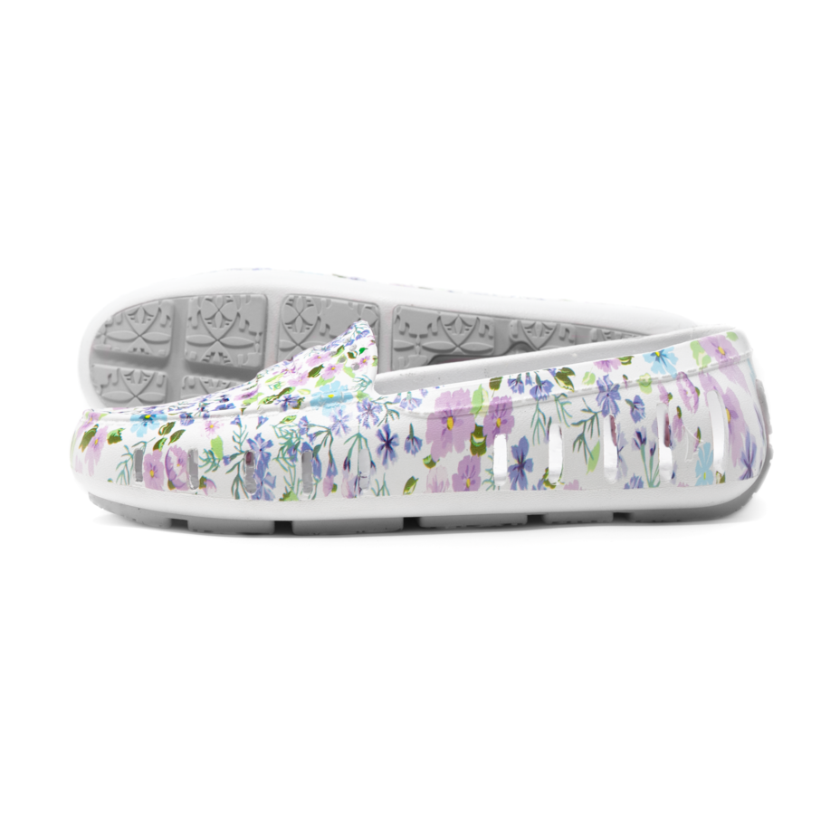W's Floafers Posh Driver Shoe - Floral Multi