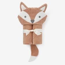 Elegant Baby Hooded Bath Towel - Fox