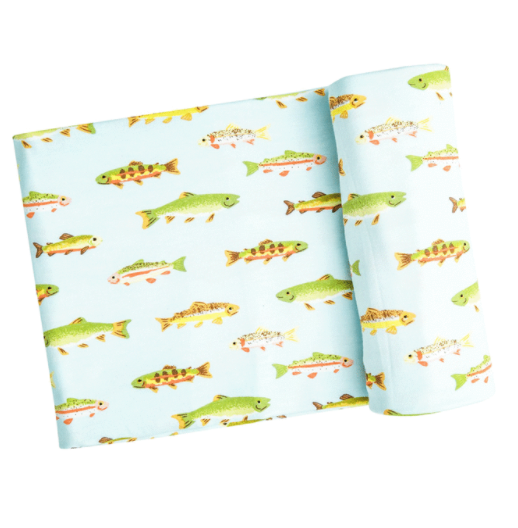 Freshwater Fish Swaddle Blanket by Angel dear