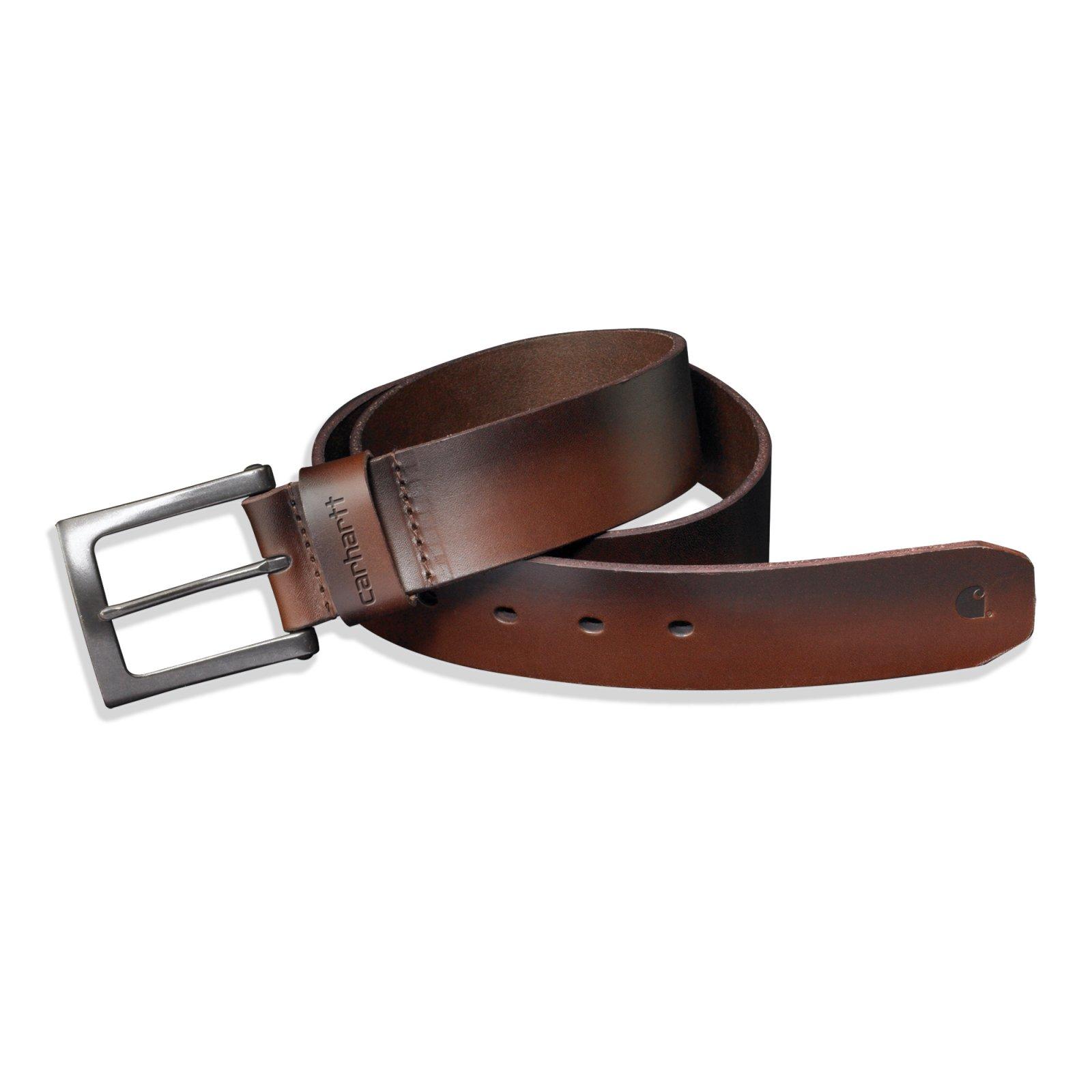 Men's Carhartt Garrison Leather Belt - Brown