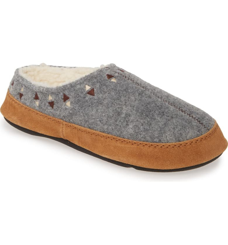 W's Acorn Geo Embroidered Slipper in Grey