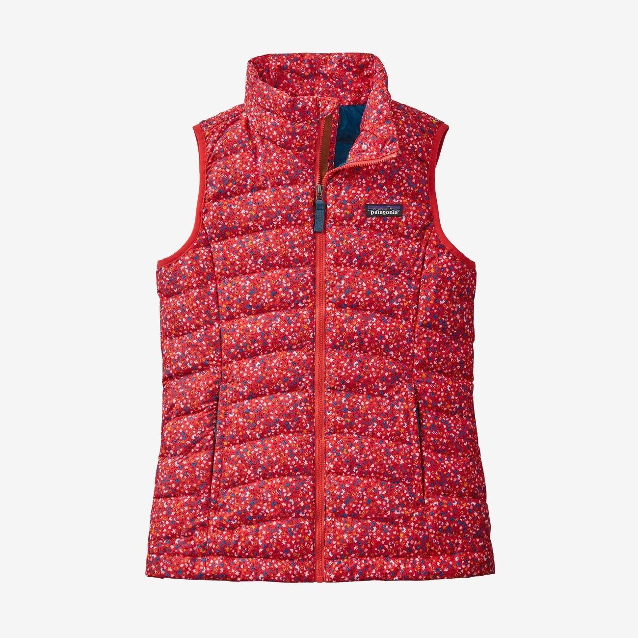 Girl's Patagonia Down Sweater Vest in Barn Dance Multi
