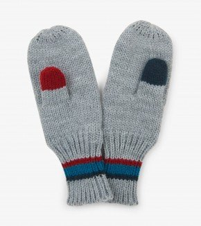 Boy's Hatley Knit Grey Mittens