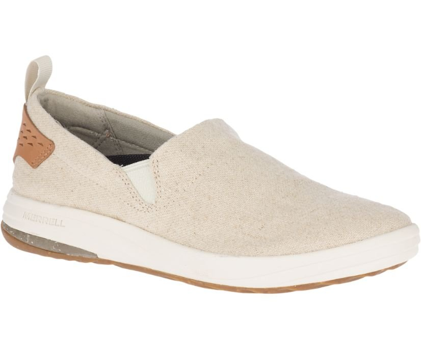 W's Merrell Gridway Moc Canvas Slip On - Natural