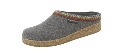 Men's Haflinger Grizzly Zig Zag Slipper Grey