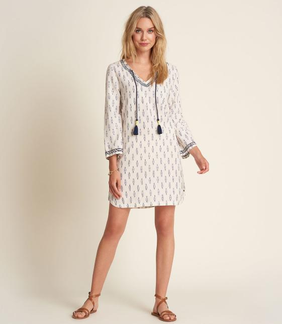 W's Hatley Tori Dress - Mini Ikat Cream