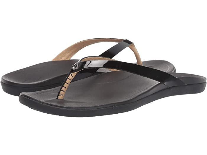 Women's Ho'Opio Leather Flip - Black