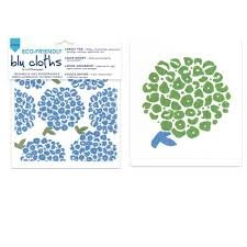 Eco Friendly Blu Cloth - Set of 2 - Hortensia Flower