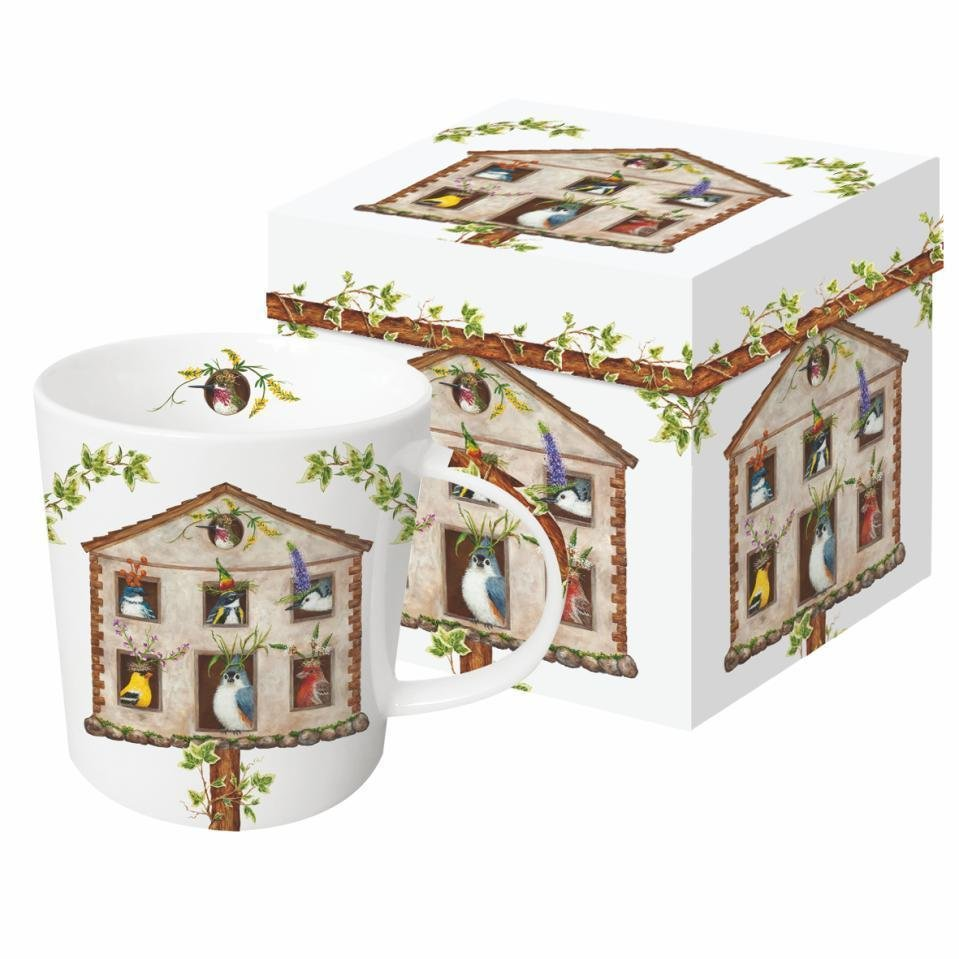 Mug In Gift Box - Bird House Party