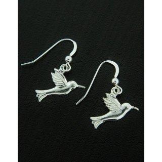Hummingbird Silver Earrings by Sosie Designs