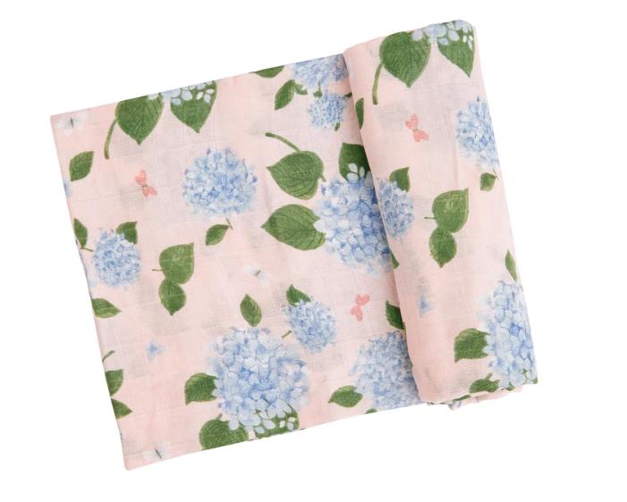 Hydrangeas Swaddle Blanket by Angel Dear
