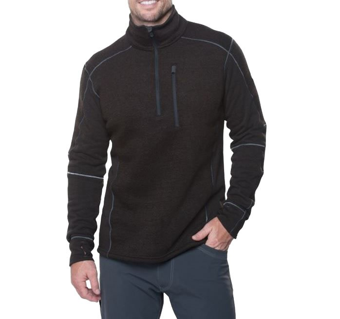 M's Kuhl Interceptr 1/4 Zip in Charcoal by Kuhl