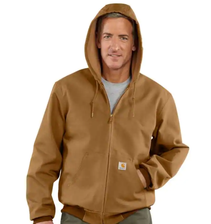 Carhartt Loose Fit Firm Duck Thermal-Lined Active Jac J131 Carhartt Brown