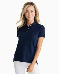 W's Southern Tide Jackee Performance Polo (White or Navy)