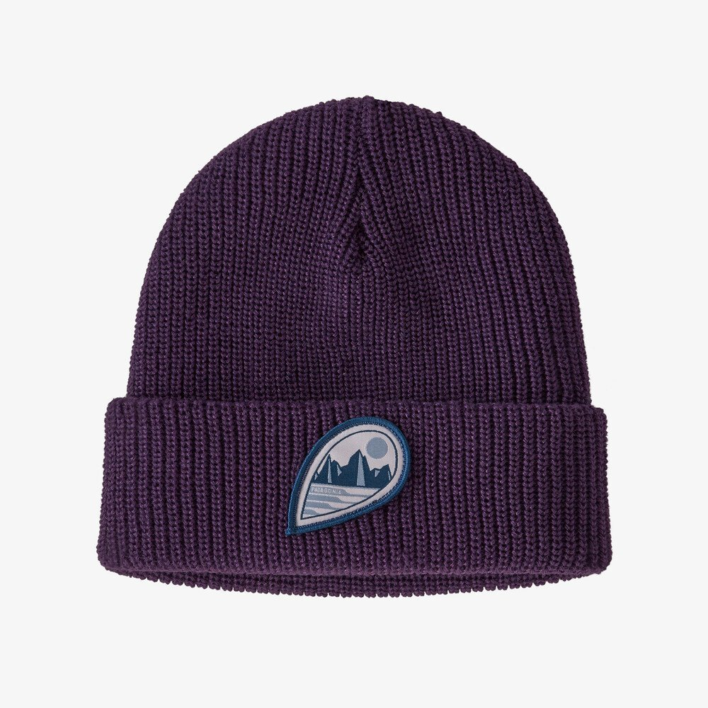 Kids Patagonia Logo Beanie in Panther Purple