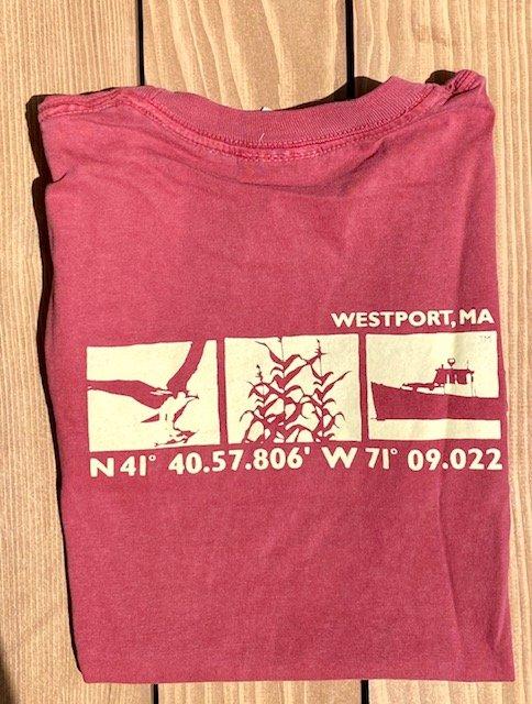 M's Townwear Westport Long Sleeve T Shirt - Crimson