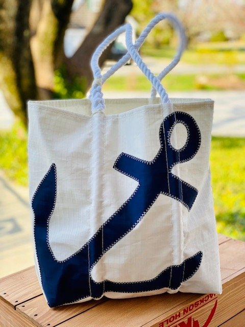 SeaBags Large Tote Navy Anchor