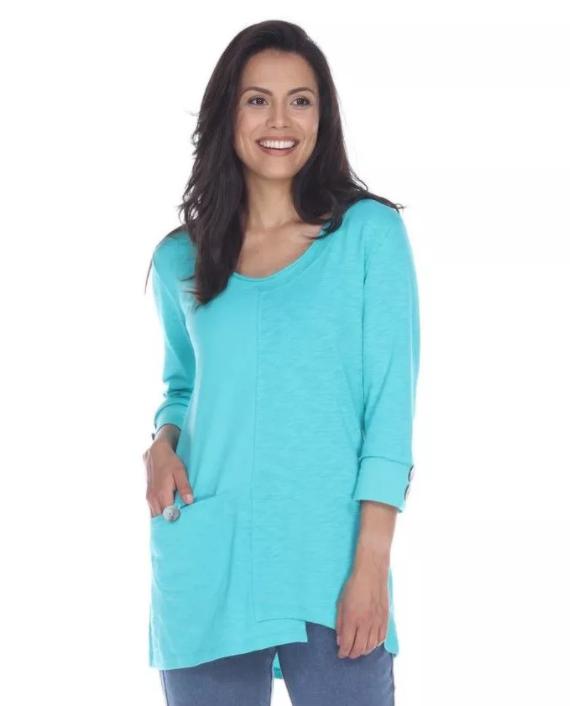 Light Breeze Cotton Tunic in Jade Mist by Neon Buddha