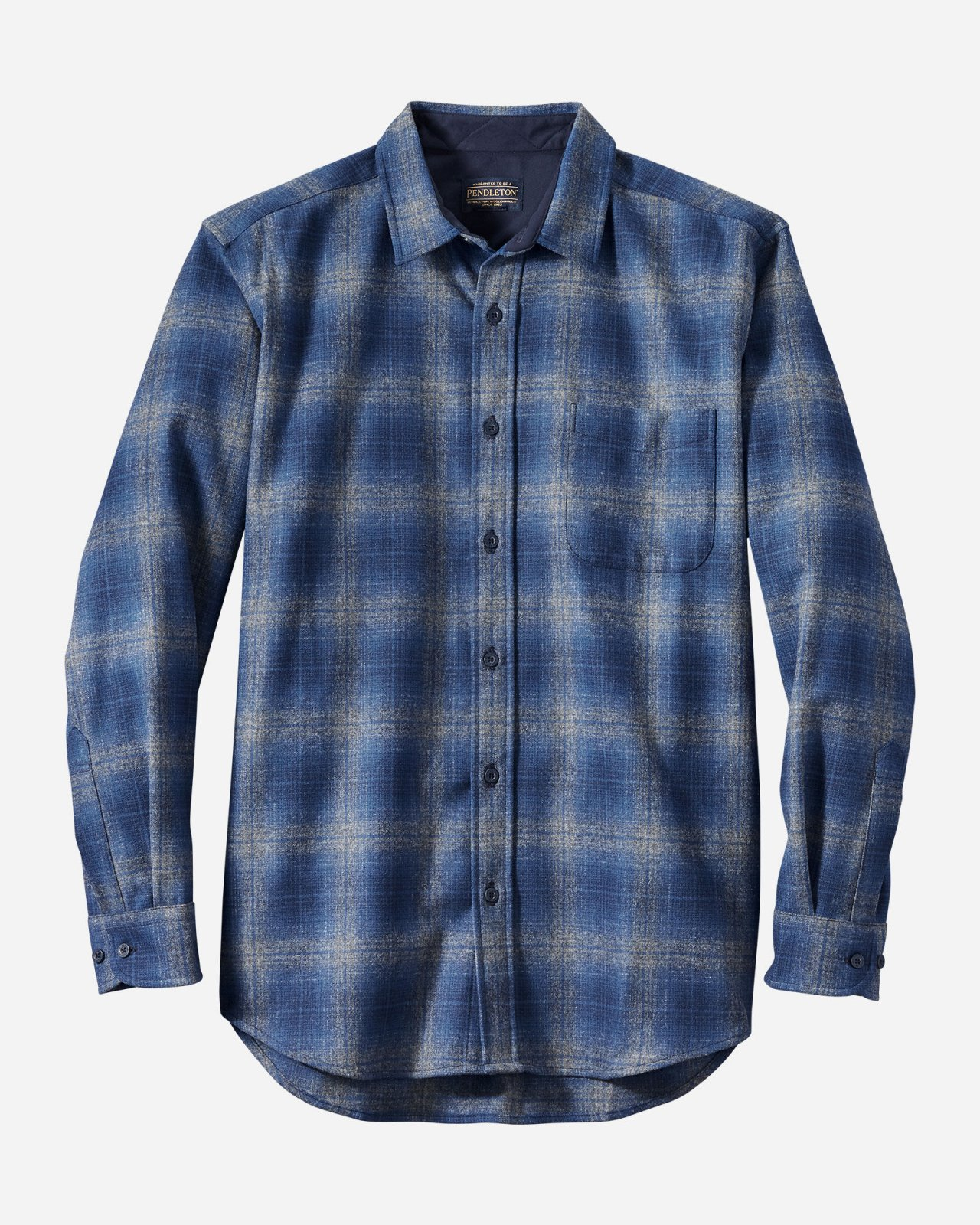 M's Pendleton Wool Lodge Shirt in Blue Plaid