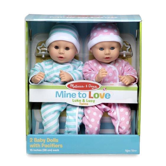 Mine To Love Luke & Lucy Twin Dolls