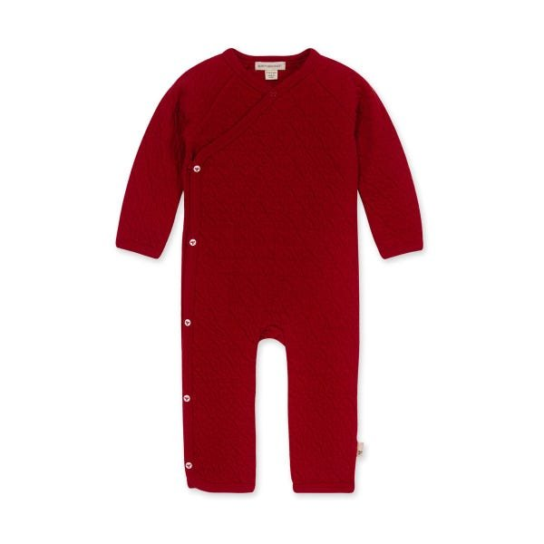 Burts Bees Organic Quilted Kimono Jumpsuit - Cardinal Red LY24703
