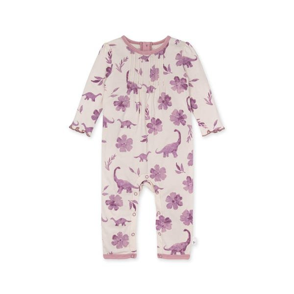 Burts Bees Baby LY28166 Mama Dino & Floral Romper