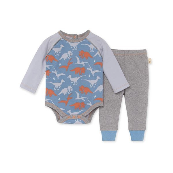 Burts Bees LY28188 Ptero-bly Cute Bodysuit & Pant Set