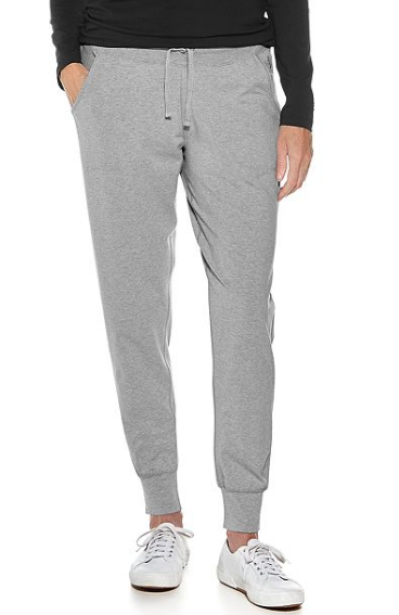 Coolibar UPF 50+ Maho Weekend Pants - Grey Heather