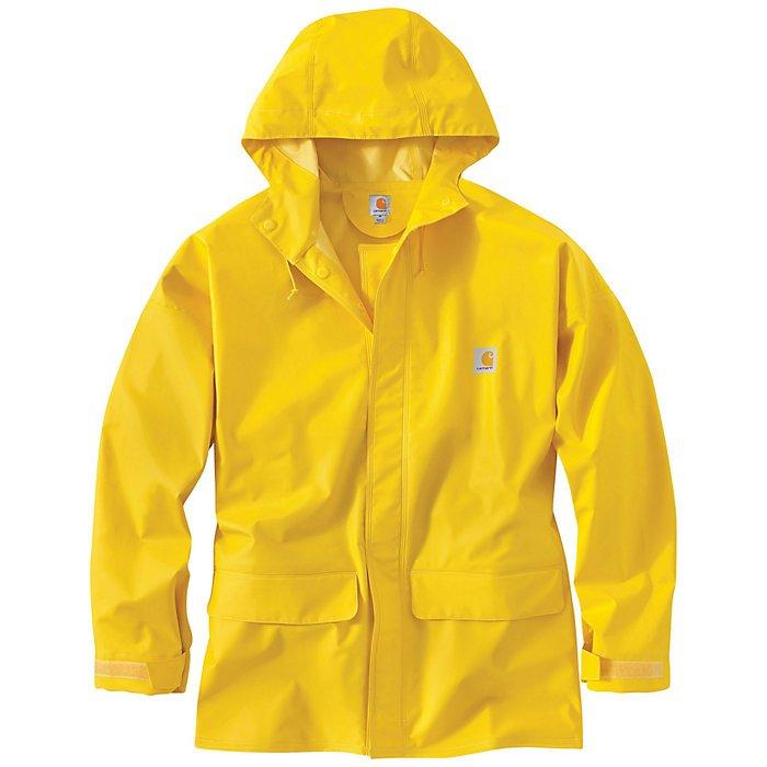 Men's Carhartt Waterproof 101076 Mayne Raincoat in Yellow