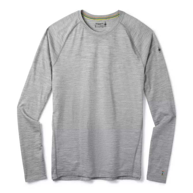 M's Smartwool 150 Base Layer in Light Gray Heather
