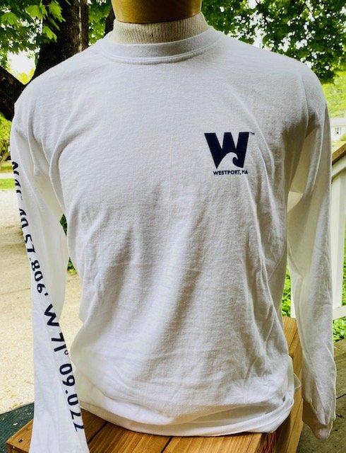 M's Townwear Westport Long Sleeve T Shirt - White
