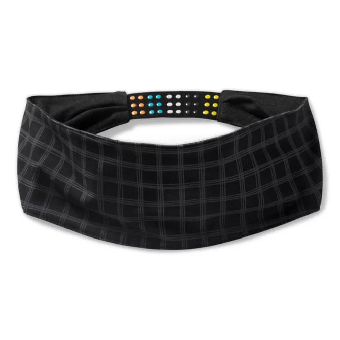 Merino Sport Headband in Black Plaid by Smartwool