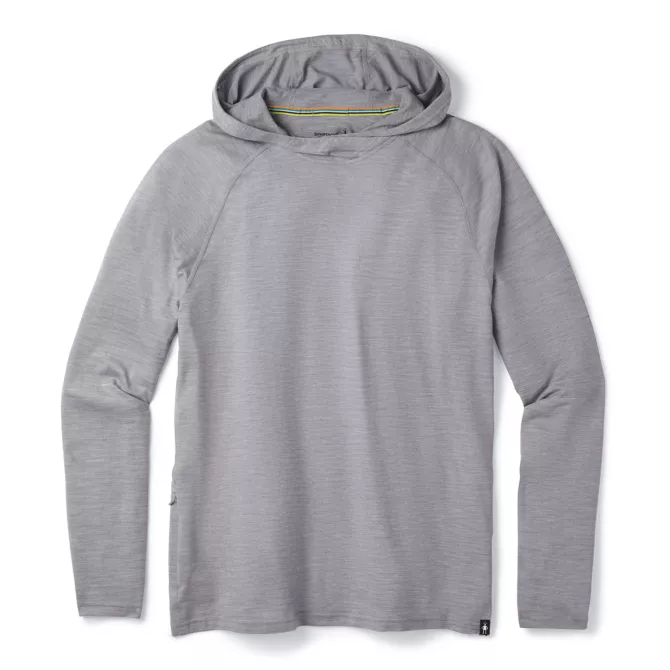 M's Smartwool 150 Merino Sport Hoodie - Light Grey Heather