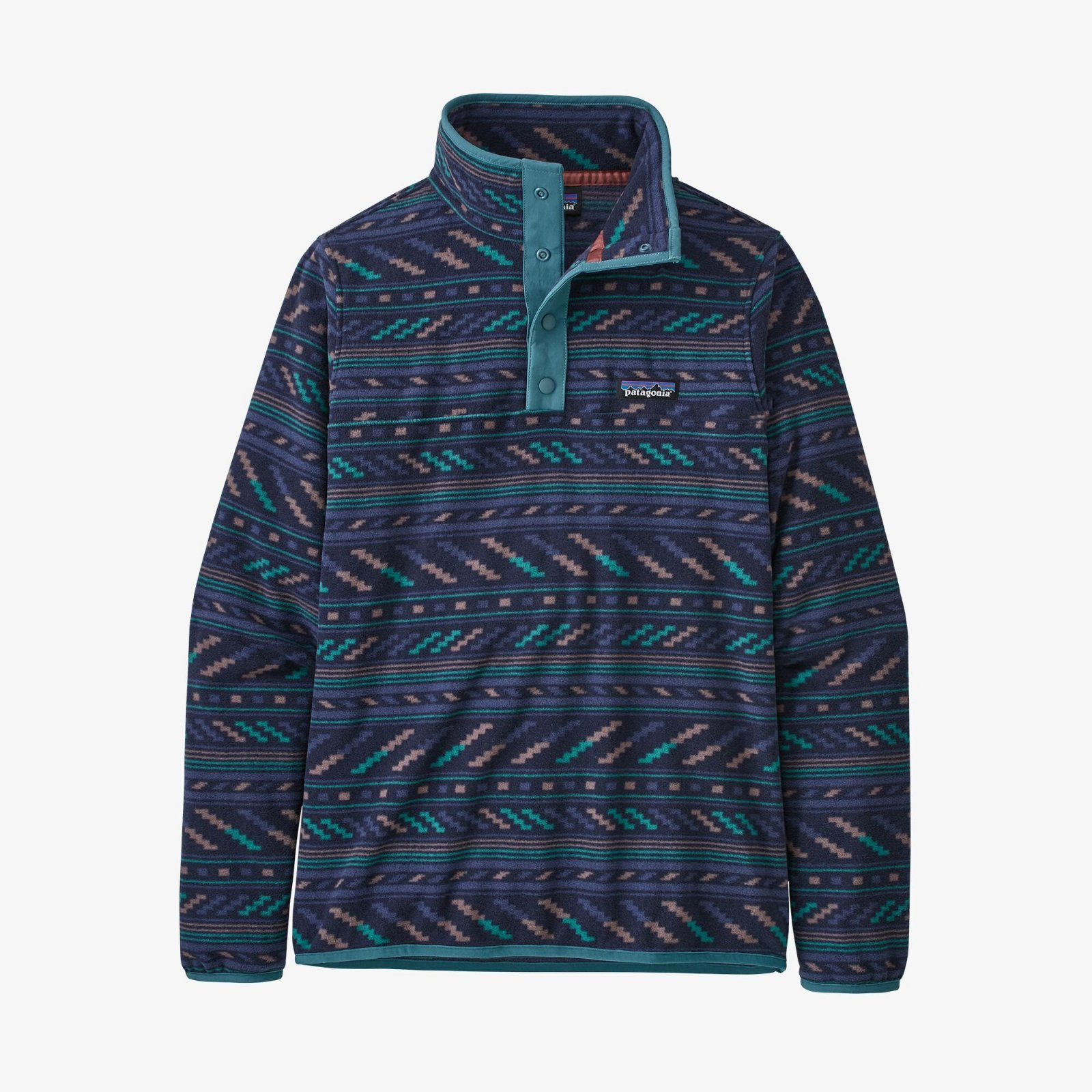 W's Patagonia Micro D Snap T Fleece Pullover - Bergy Bits New Navy