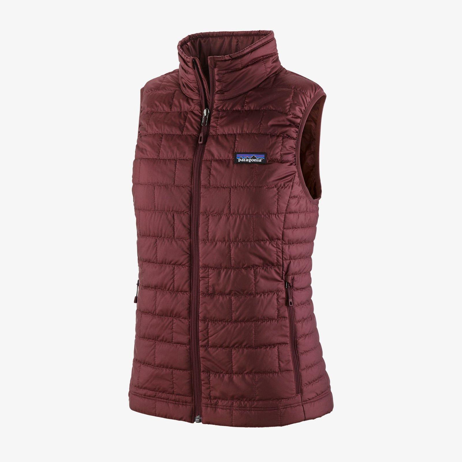 W's Patagonia Nano Puff Vest in Dark Ruby