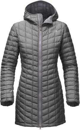 W's Eco Thermoball Parka in Med Grey Heather by North Face