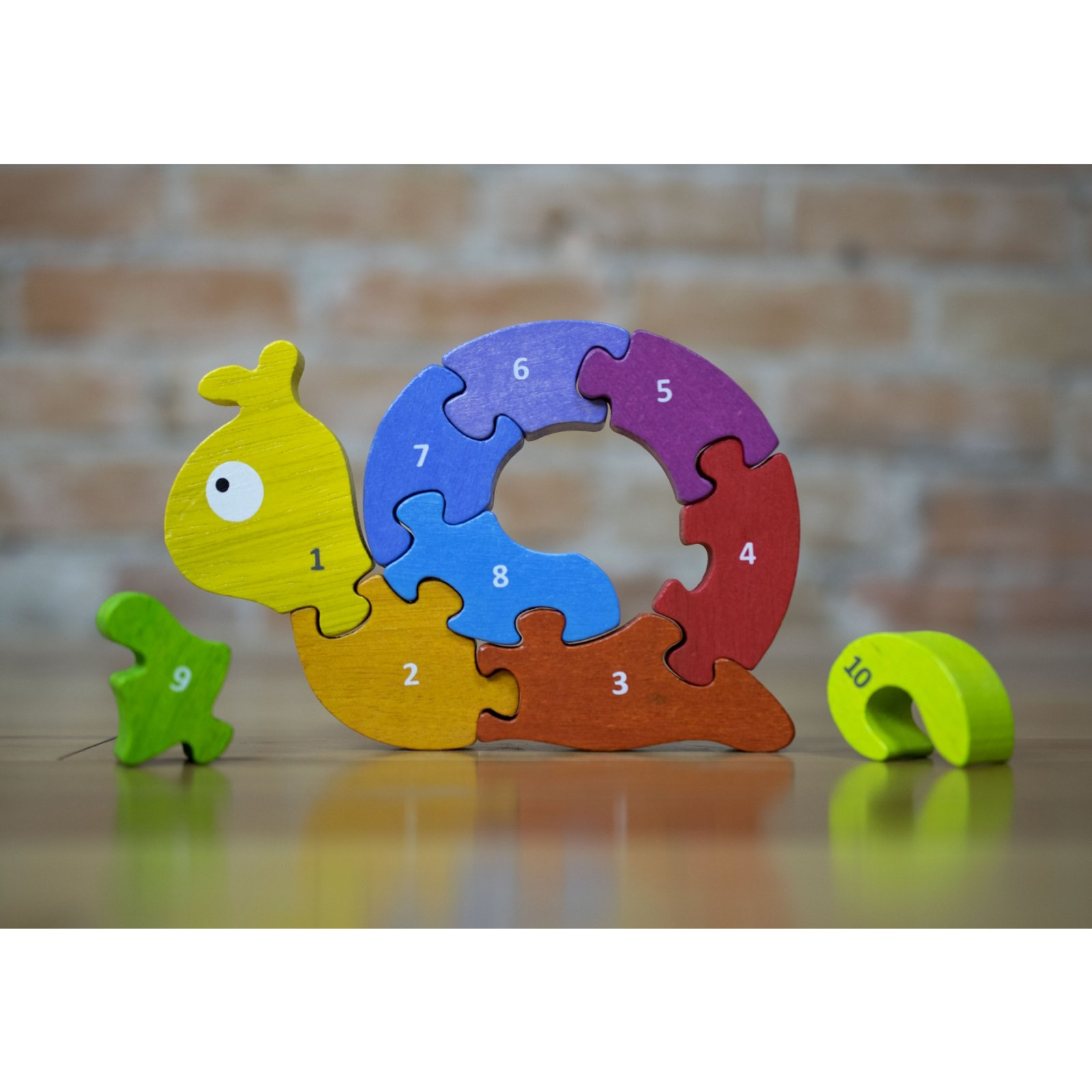 Number Snail Teach & Play Wooden Puzzle